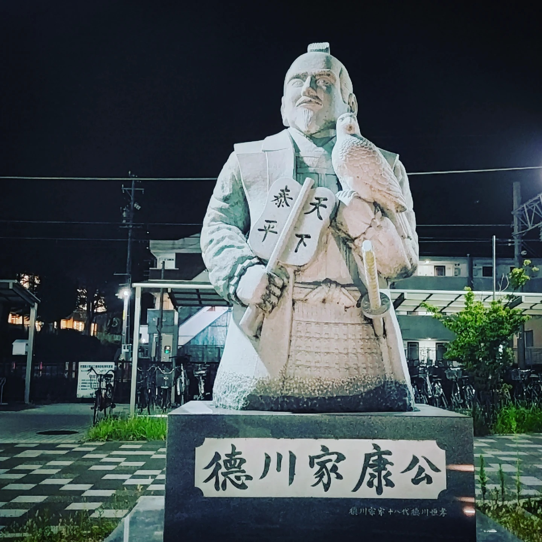 徳川家康が出迎える藤川宿- from Instagram